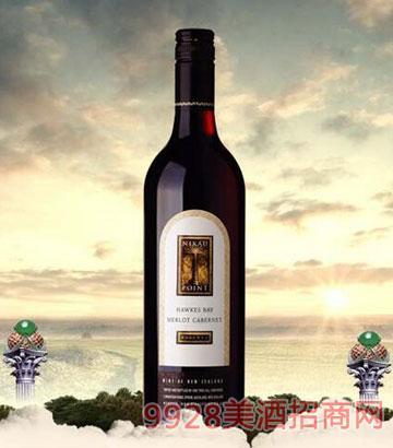 新西兰霍克斯湾2012梅洛赤霞珠干红葡萄酒12.5%vol