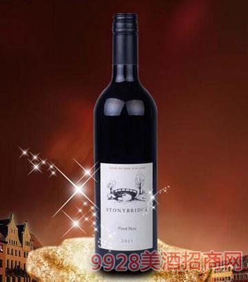 新西兰霍克斯湾2011黑比诺干红葡萄酒12.5%vol