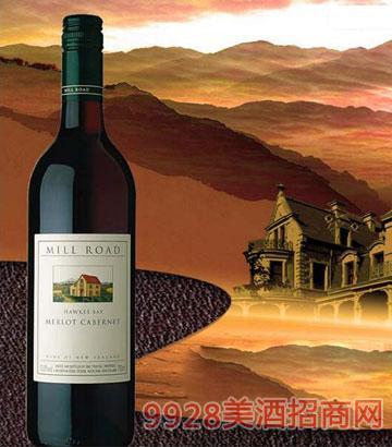 新西兰霍克斯湾2012梅洛赤霞珠干红葡萄酒13%vol