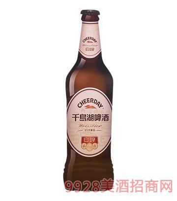千岛湖啤酒白啤418ml