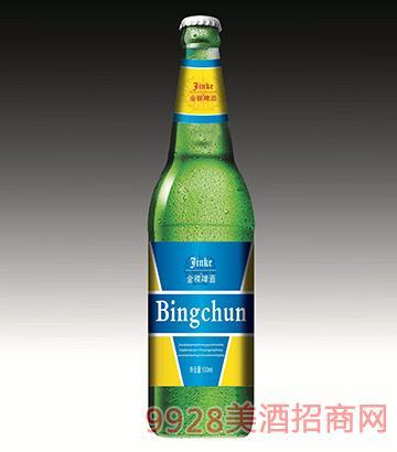 金稞冰纯啤酒瓶装啤酒500ml