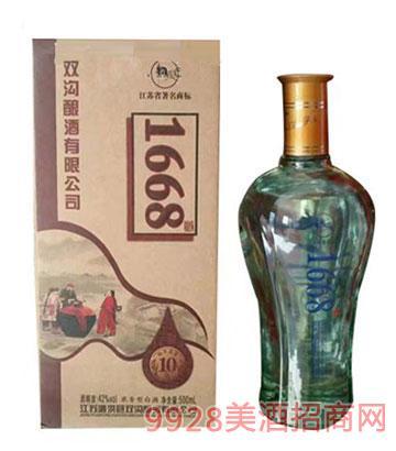 双沟酿酒1668原浆酒42度500ml浓香型
