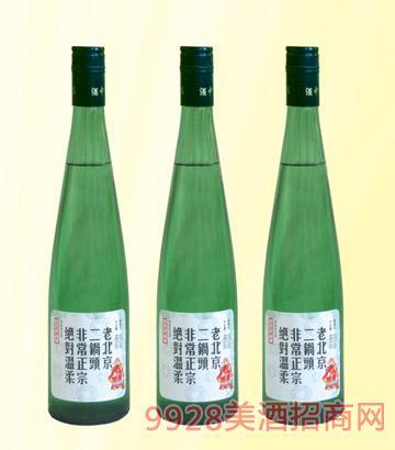 老北京二��^42度480mlx12清香型(�G瓶)