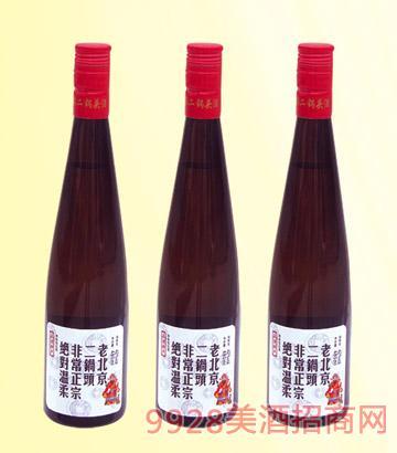 老北京二��^42度480mlx12清香型(�t瓶)