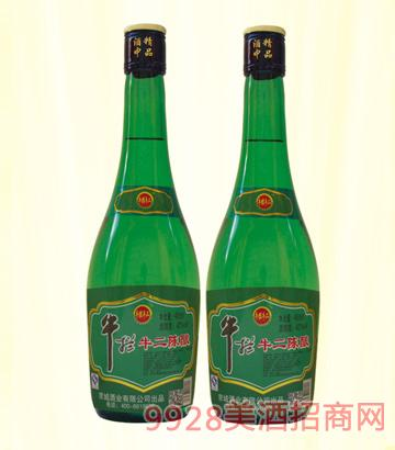 牛栏牛二陈酿酒42度475mlx12浓香型