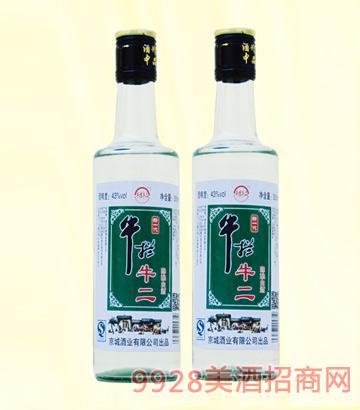 新一代牛栏牛二陈酿白酒42度250mlx20浓香型