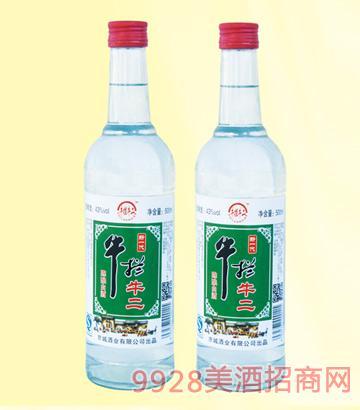 牛栏牛二酒43度500mlx12浓香型