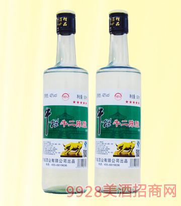 牛栏牛二陈酿酒42度500mlx12浓香型