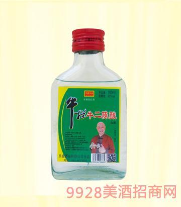 牛栏牛二陈酿酒42度100mlx40浓香型