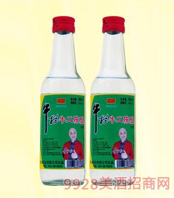 牛栏牛二陈酿酒42度260mlx20浓香型