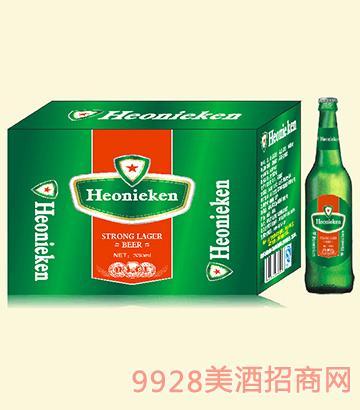 荷兰皇 家喜力啤酒瓶装啤酒330ml