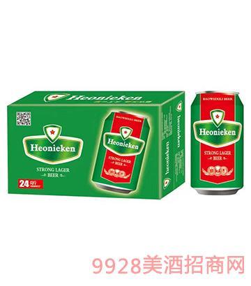 荷蘭皇 家喜力啤酒罐裝啤酒330mlx24
