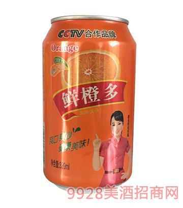 三发鲜橙多果味啤酒320ml