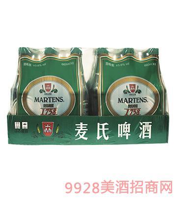 比利�r��氏啤酒醇厚啤酒10°P 660mlx6x4