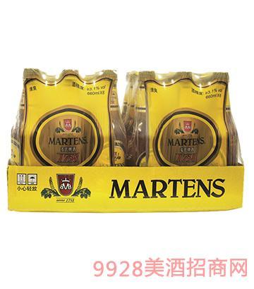比利�r��氏啤酒清爽啤酒8°P 660mlx6x4