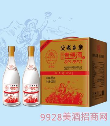 喜玛拉雅青稞酒父老乡新品尝酒46度450mlx6清香型