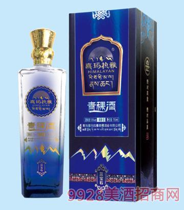 喜玛拉雅青稞酒蓝宝石53度750ml清香型