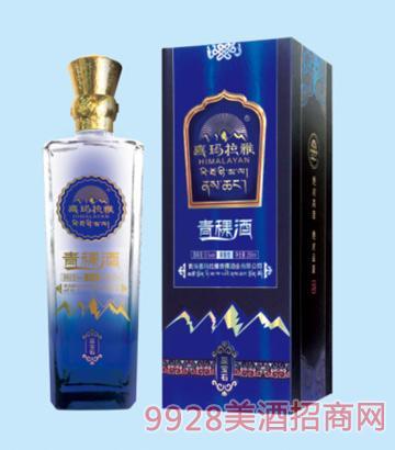 喜玛拉雅青稞酒蓝宝石53度250ml清香型