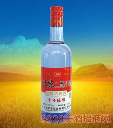 京泰北京二锅头十年陈酿53度500ml清香型