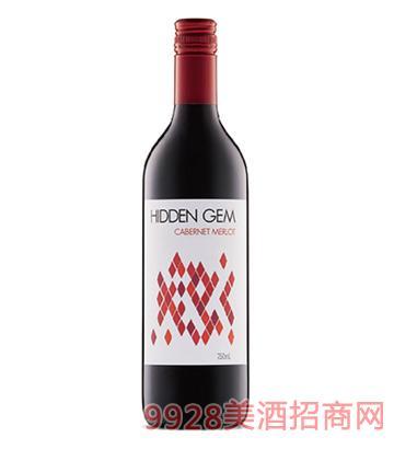 宝藏赤霞珠美乐干红葡萄酒14度750ml