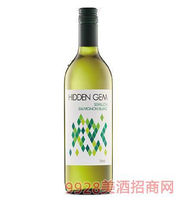 宝藏赛美容长相思干白葡萄酒14度750ml