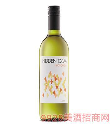 宝藏灰皮诺干白葡萄酒14度750ml