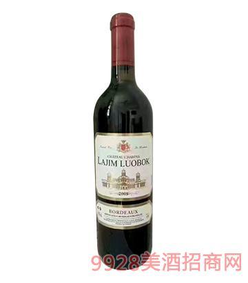 法国拉金罗博克庄园干红葡萄酒白标2009