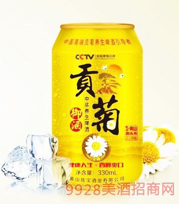 中华养生啤酒质宝贡菊御酒(全麦)9°P330ml