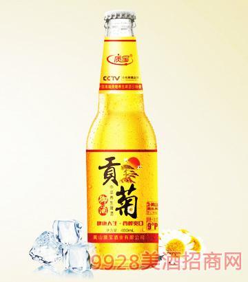 中华养生啤酒质宝贡菊御酒9°P480ml