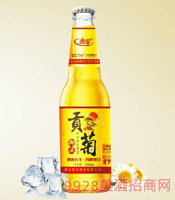 中华养生啤酒质宝贡菊御酒9°P330ml
