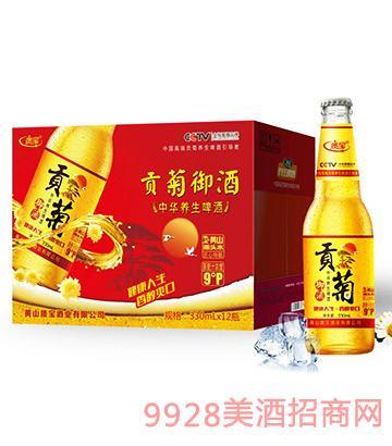 贡菊养生啤酒瓶装330mlx12