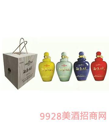 汾酒集团木礼盒原浆白玉坊酒