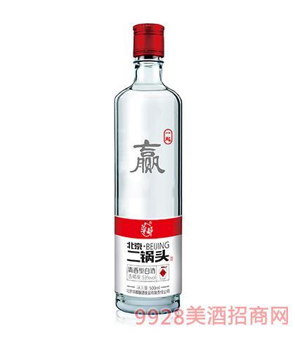 华都酒北京二锅头一起赢53度500ml清香型