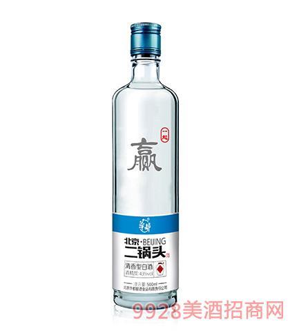 华都酒北京二锅头一起赢43度500ml清香型