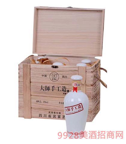 宾宴春酒大师手工造酒52度500mlx6浓香型