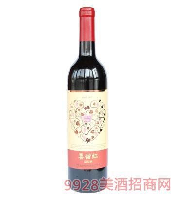 张裕百年喜甜红葡萄酒750ml
