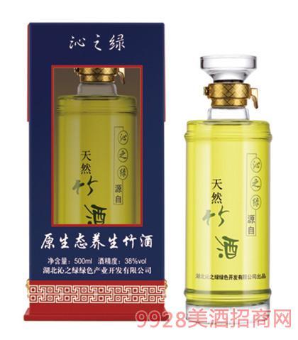 沁之绿原生态竹香型竹酒(蓝盒)38度