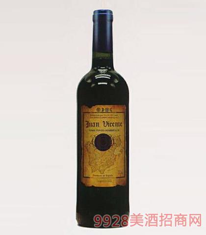 西班牙维森特半甜红葡萄酒12度750mlx6瓶