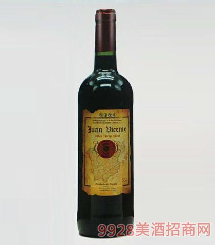 西班牙维森特干红葡萄酒12度750mlx6瓶