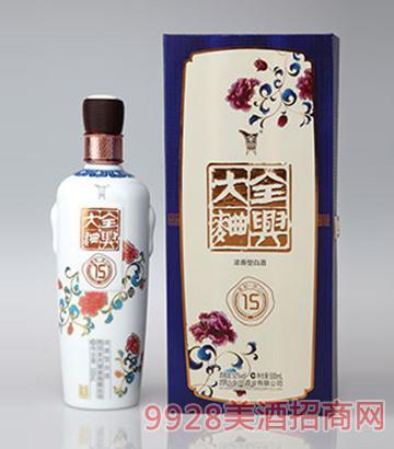 全兴大曲酒青花15年52度500ml浓香型