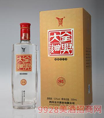 全兴大曲酒金奖84-52度500ml浓香型