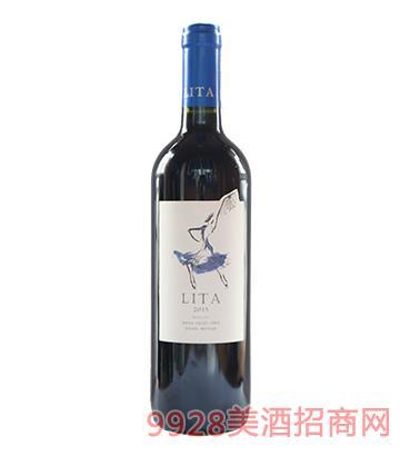 智利丽塔梅洛红葡萄酒13.5度750ml