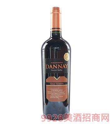 智利丹奈赤霞珠珍藏红葡萄酒14度750ml