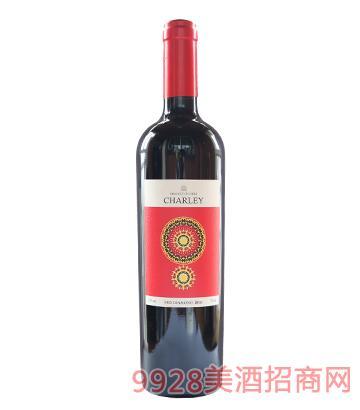智利夏蕾红钻红葡萄酒13度750ml