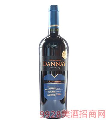 智利丹奈梅洛珍藏红葡萄酒14度750ml