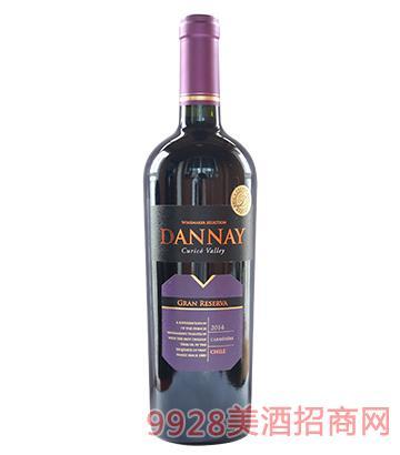 智利丹奈佳美娜珍藏红葡萄酒13.5度750ml