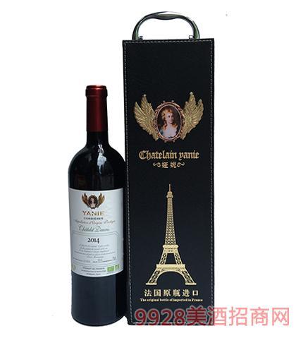 法国原瓶进口娅妮珍藏干红葡萄酒12度750ml