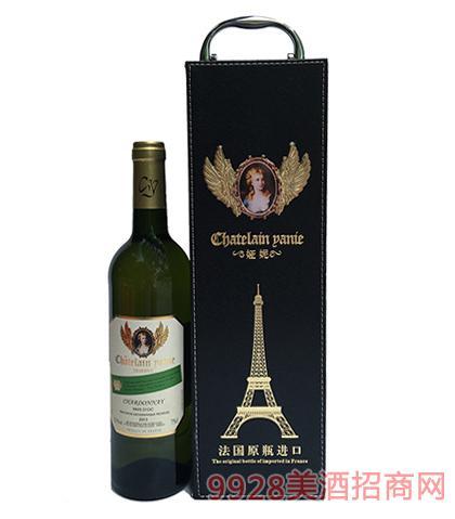 法国原瓶进口娅妮霞多丽珍藏干红葡萄酒12.5度750ml
