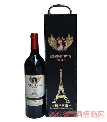 法国原瓶进口娅妮波尔多珍藏干红葡萄酒13度750ml
