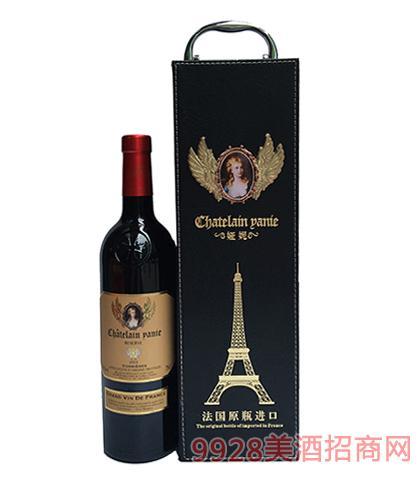 法国原瓶进口娅妮科比埃珍藏干红葡萄酒13度750ml